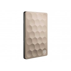 Seagate Backup Plus Ultra Slim 1TB Portable External Hard Drive, USB 3.0 Gold (STEH1000201)