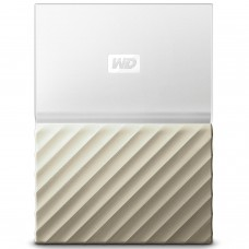 WD 2TB My Passport Ultra Portable External Hard Drive - USB 3.0 - White-Gold - WDBFKT0020BGD-WESN