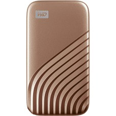 Western Digital 1TB My Passport SSD External Portable Drive, Gold, Up to 1050 MB/s - WDBAGF0010BGD-WESN